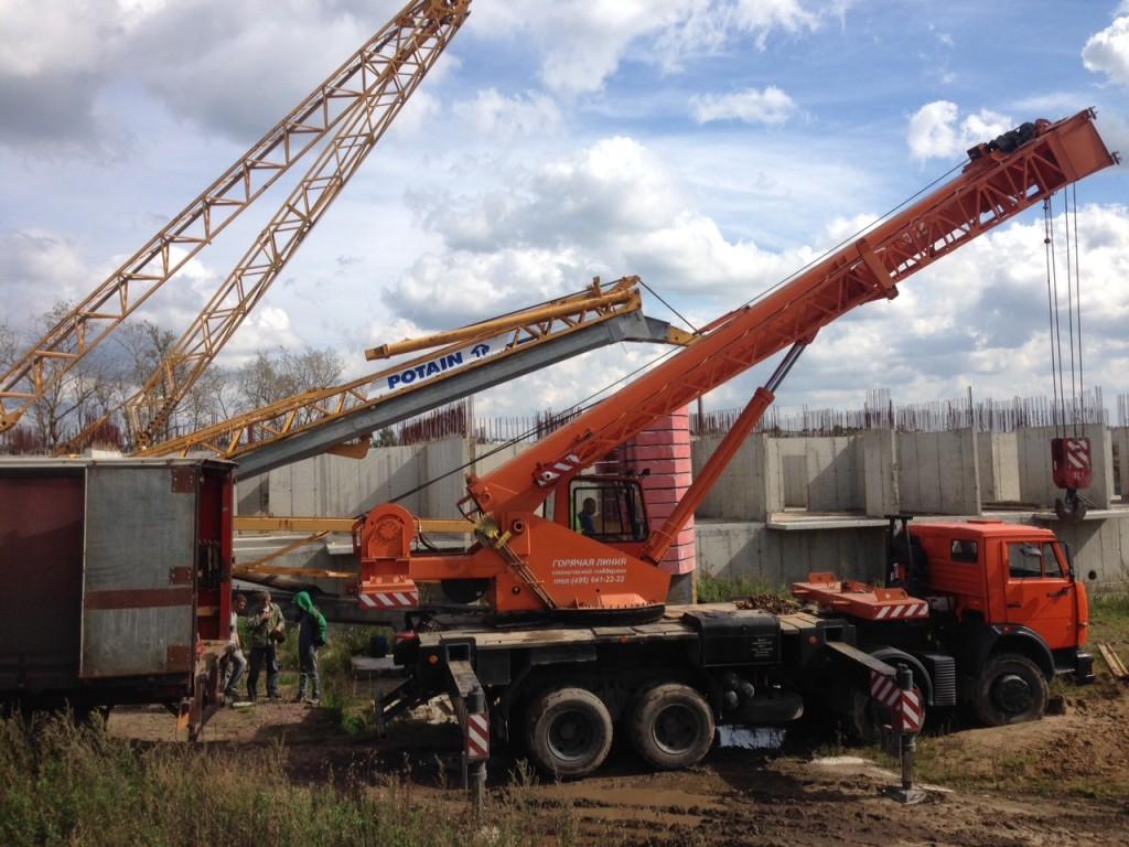 Демонтаж быстромонтируемого башенного крана Potain UGO50 в п. Щеглово