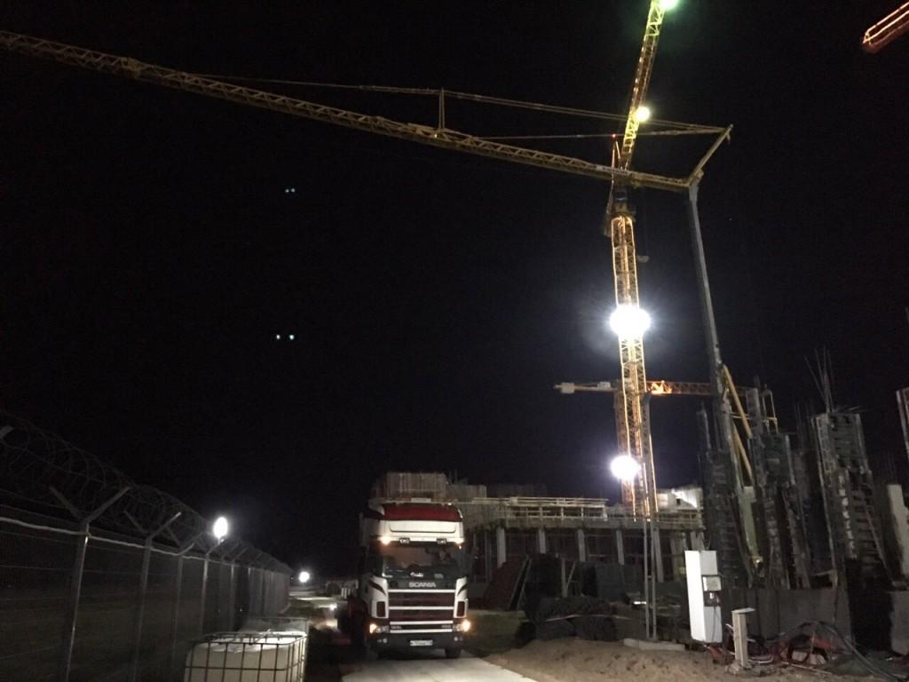 Монтаж и наладка башенного крана завершены